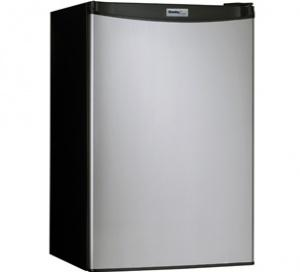 Danby Designer 4.4 cu. ft. Compact Refrigerator  Black with Stainless Steel Look