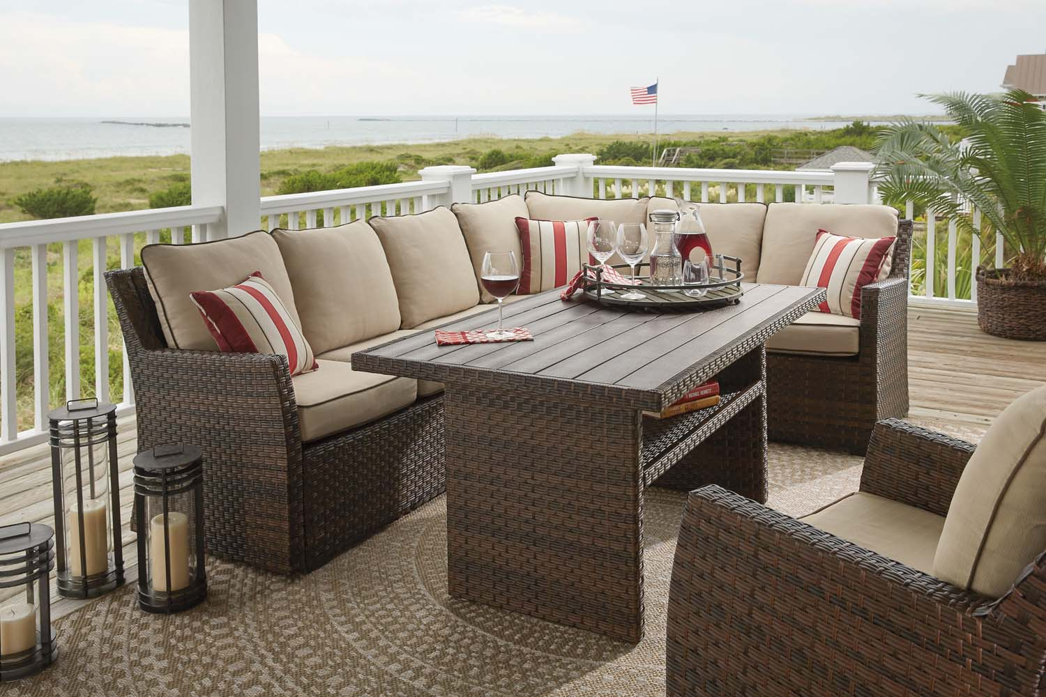 Salceda   Beige/Brown 2 Piece Patio Set