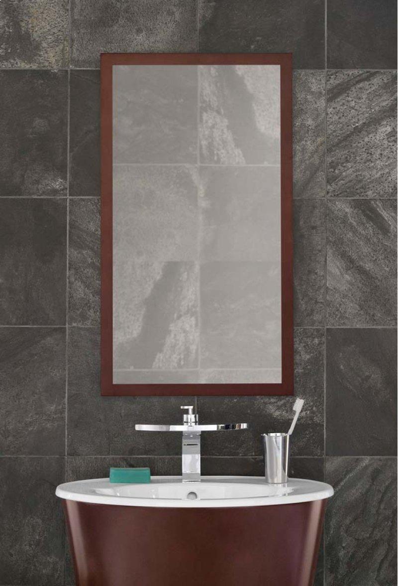 dark cherry framed bathroom mirror - 9designsemporium