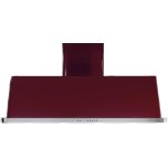 ILVE Burgundy with Stainless Steel Trim 36