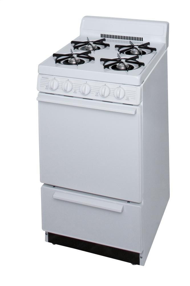 Hidden · Additional Premier SAK2200PO 20in Apartment Electric Ignition Gas  Range 2.4 Cu Ft With Storage Drawer,  Apartment Appliance Packages