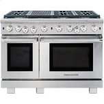 American Range�Inconel® Infrared Broilers �Analog Controls for Easy Operation �	Porcelainized Oven Interior �Traditional & Convection Bake Options �2 Chrome Racks w/ 5 Cooking Positions