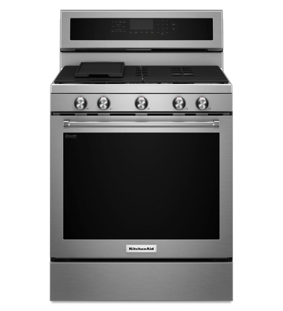 kitchenaid KFGG500ESS gas freestanding range