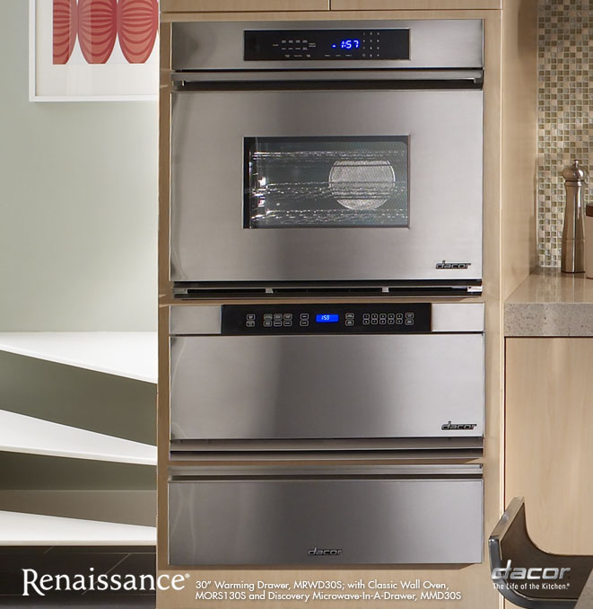 Mrwd27b dacor renaissance 27 warming drawer in black for Decor microwave