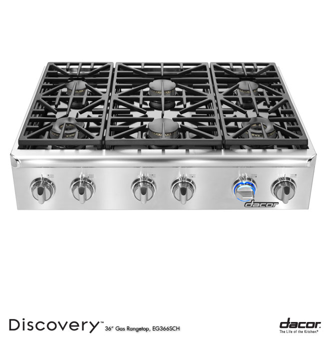 Eg486schlp dacor discovery 48 gas cooktop in stainless for Dacor 48 rangetop