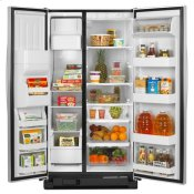 Amana® 25.5 cu. ft. Side-by-Side Refrigerator with Energy Efficiency and Money Savings - white Alternate Image