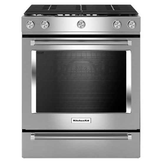 kitchenaid gas slide in range KSGG700ESS