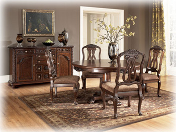 Buy dining room furniture - ASHLEY D55350T DINING ROOM FURNITURE TABLES