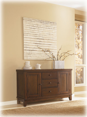 Buy dining room buffets sideboards - ASHLEY D69680 DINING ROOM FURNITURE SERVERS / BUFFETS / SIDEBOARDS