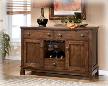 Buy dining room buffets sideboards - ASHLEY D45660 DINING ROOM FURNITURE SERVERS / BUFFETS / SIDEBOARDS