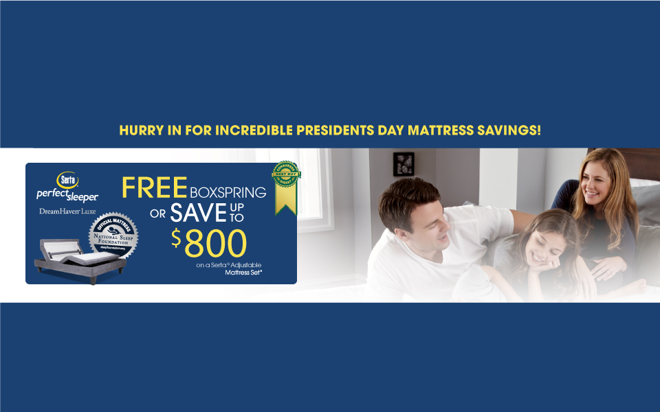 Serta Perfect Sleeper MEGA Exclusive President's Day Event 2017