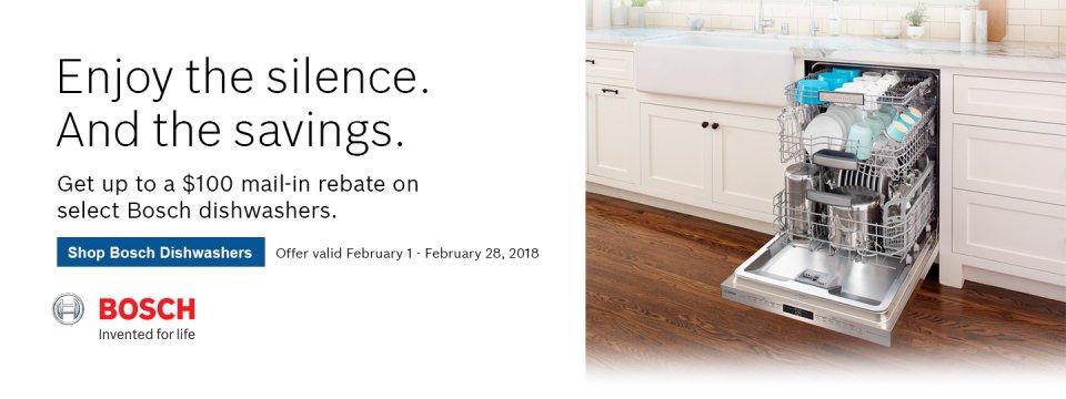 Bosch Dishwasher Rebate Feb 2018