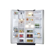 25.2 cu. ft. Side by Side Refrigerator-Stainless Black