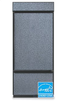 20.4 Cu. Ft. 36 in. Width Freezer-on-the-Bottom Built-In Refrigerator Classic Series Right-Hand Door Swing(Brushed Aluminum Trim/Panel Ready)