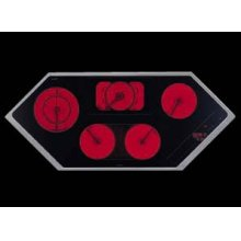 """48"""" diamond-shaped glass-ceran electric cooktop with 5 variable cooking zones"""