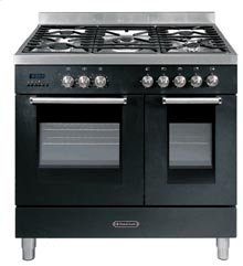 """30"""" BLACK DOUBLE CONVECTION/CONVECTION OVEN WITH ROBUST HANDLE"""