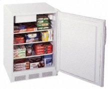 SUMMIT SCFF-55 is our under-counter, frost-free, commercial all freezer. It includes an adjustable thermostat, adjustable shelves and fan forced circulation.  Model SCFF55BISSHH adapts for built-in use, with a stainless steel wrapped door and horizontal handle.