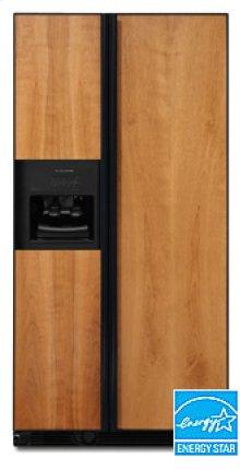 24.5 Cu. Ft. 35 5/8 in. Width Counter-Depth Side-by-Side Dispensing Freestanding Refrigerator(Black)