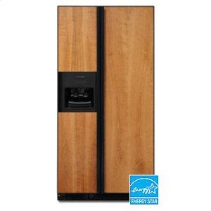 KitchenAid24.5 Cu. Ft. 35 5/8 in. Width Counter-Depth Side-by-Side Dispensing Freestanding Refrigerator(Black)