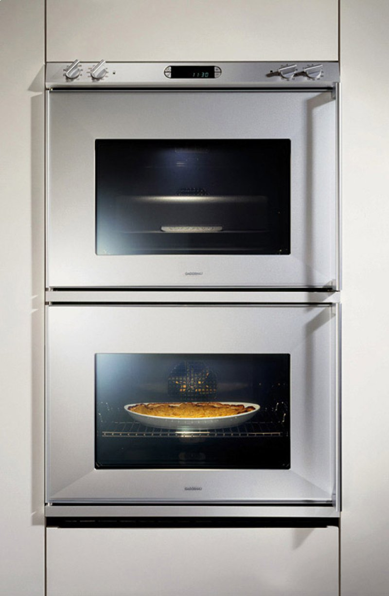 Double It Up The New Universal Oven Eb 294 295 Hidden Gaggenau Logo