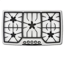 """36"""" WHITE PORCELAIN STEEL GAS COOKTOP"""