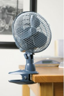 "7"" Oscillating Desk Fan with Clip"