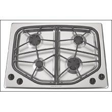 "CLOSEOUT ITEM : Jennair 30"" Gas Cooktop - Stainless Steel"