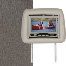 Dual Custom Headrest System with Built-in DVD Player. Hummer H2. The Color is Tan Wheat.