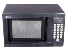 SUMMIT SM903B is a mid-sized microwave oven with a fully black finish.
