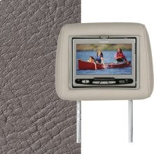 Dual Custom Headrest System with Built-in DVD Player. Dodge Ram Quad 2500-3500. The color is Taupe.
