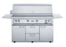 """54"""" Free Standing Grill with 1 ProSear Burner and Rotisserie (L54PSFR-1)"""