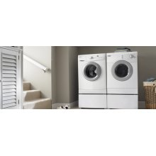 Biscuit-on-Biscuit Whirlpool® 5 Cycle, Large Capacity Washer With Electric Dryer (This is a Stock Photo, actual unit (s) appearance may contain cosmetic blemishes. Please call store if you would like actual pictures). This unit carries our 6 month warranty, MANUFACTURER WARRANTY and REBATE NOT VALID with this item. ISI 33350