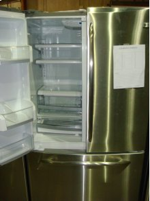 """42"""" STAINLESS SIDE-BY_SIDE, CURVED HANDLES, INTERNAL ICE"""