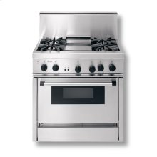 """36"""" CLASSIC ALL-GAS RANGE W/ 4 SEALED ROUND BURNERS & GRIDDLE"""
