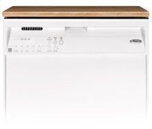 White-on-White Portable Dishwasher ENERGY STAR® Qualified