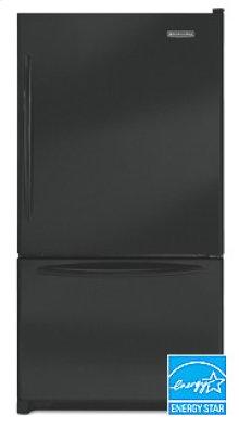 20.3 Cu. Ft. 35 5/8 in. Width Counter-Depth Freezer-on-the-Bottom Refrigerator Architect® Series(Black)