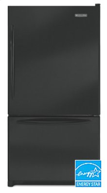 20.3 Cu. Ft. 35 5/8 in. Width Counter-Depth Freezer-on-the-Bottom Refrigerator Architect® Series(Black)