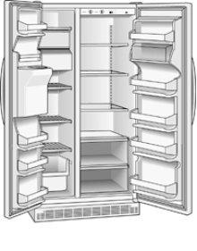 Roper 25.3 cu. ft. Side by Side Refrigerator