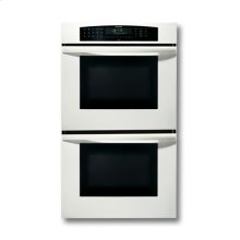 "30"" WHITE DOUBLE CONVECTION/CONVECTION OVEN WITH ROBUST HANDLE"