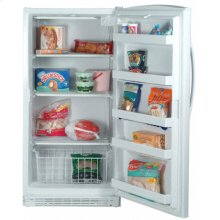 White-on-White 16.0 Cu. Ft. Upright Freezer