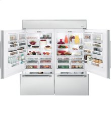 "Left Side of GE Monogram® 72"" Built-In Bottom-Freezer Refrigerator (must be ordered"