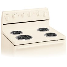 Biscuit-on-Biscuit 30-Inch Standard Clean Freestanding Electric Coil Range