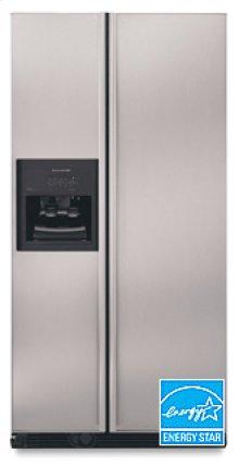 24.5 Cu. Ft. 35 5/8 Ii. Width Counter-Depth Side-by-Side Dispensing Freestanding Refrigerator(Stainless Steel)