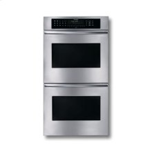 "27"" STAINLESS STEEL DOUBLE CONVECTION/THERMAL OVEN WITH CURVED HANDLES"