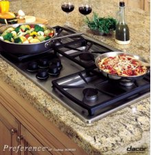 """36"""" COOKTOP WITH 4 STAR BURNERS AND GRILL"""