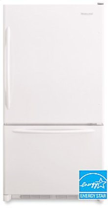 22.1 Cu. Ft. 32 5/8 in. Width Freezer-on-the-Bottom Refrigerator Architect® Series(White)