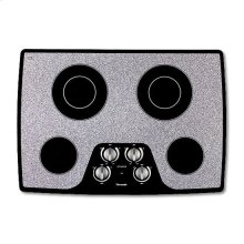 """30"""" WHITE CERAMIC ELECTRIC MECHANICAL KNOBS COOKTOP"""