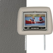 Dual Custom Headrest System with Built-in DVD Player. Chevy Tahoe; GMC Yukon; Cadillac Escalade, Color Medium Dark Pewter.