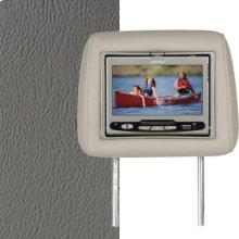 Dual Custom Headrest System with Built-in DVD Player. Chevy Tahoe; GMC Yukon; Cadillac Escalade, Color Medium Dark Pewter.