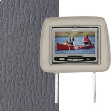 Dual Custom Headrest System with Built-in DVD Player. Infiniti FX45, FX35. The color is Graphite.